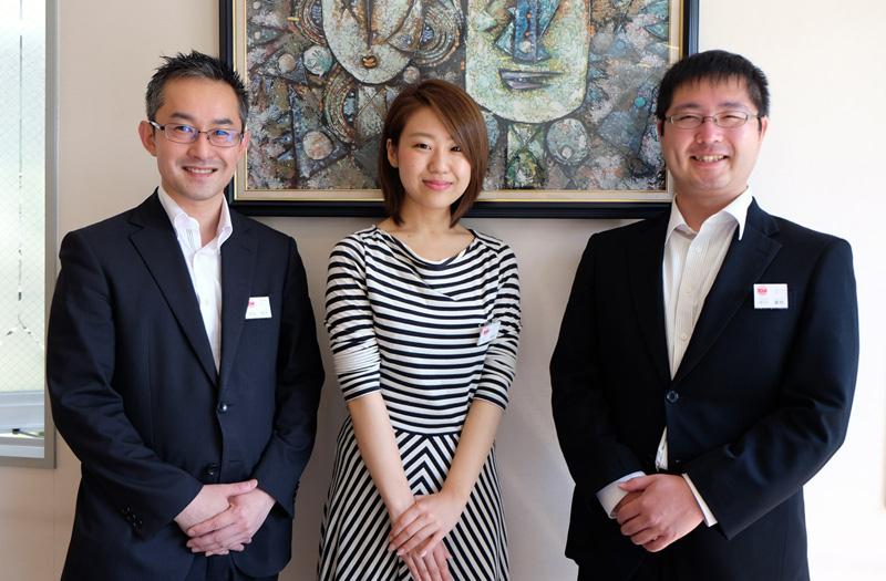 株式会社オーディンフーズ 人事グループ(左から石井、大山、早川)