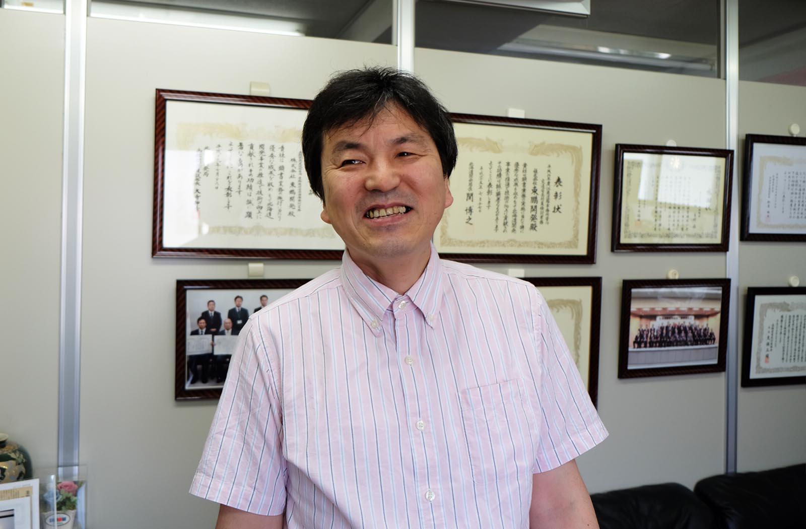 株式会社東鵬開発  本社にて
