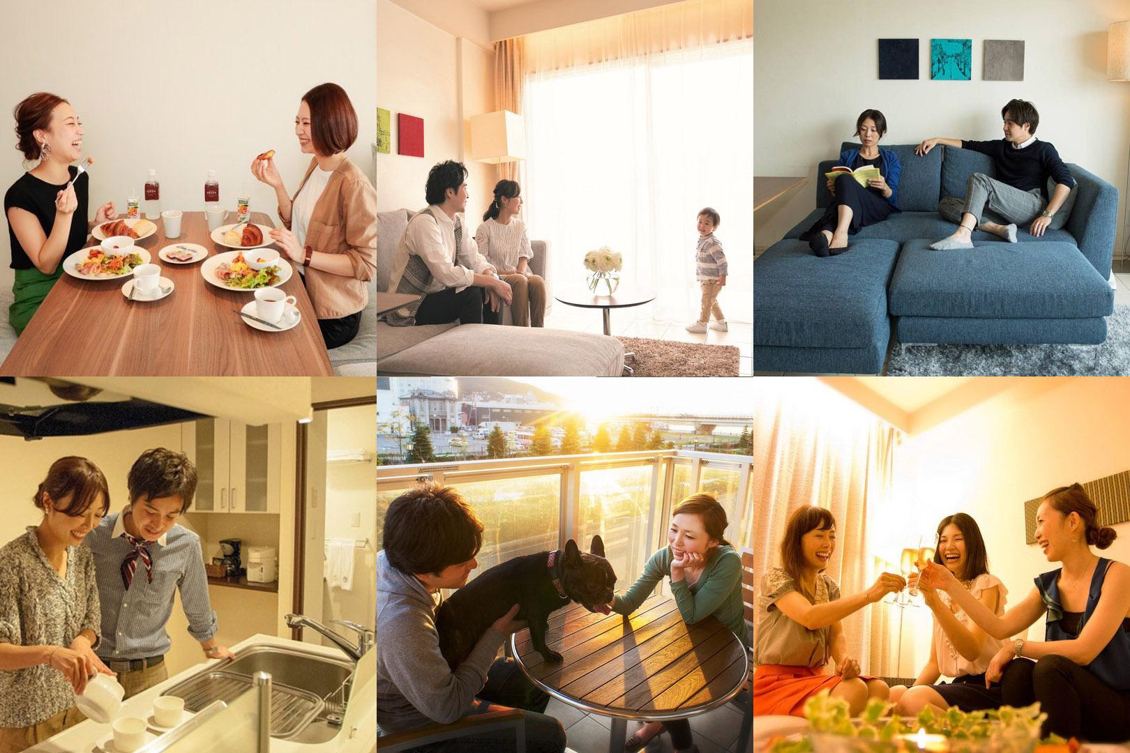 当ホテルのご利用イメージ。函館では珍しい滞在型ホテルです