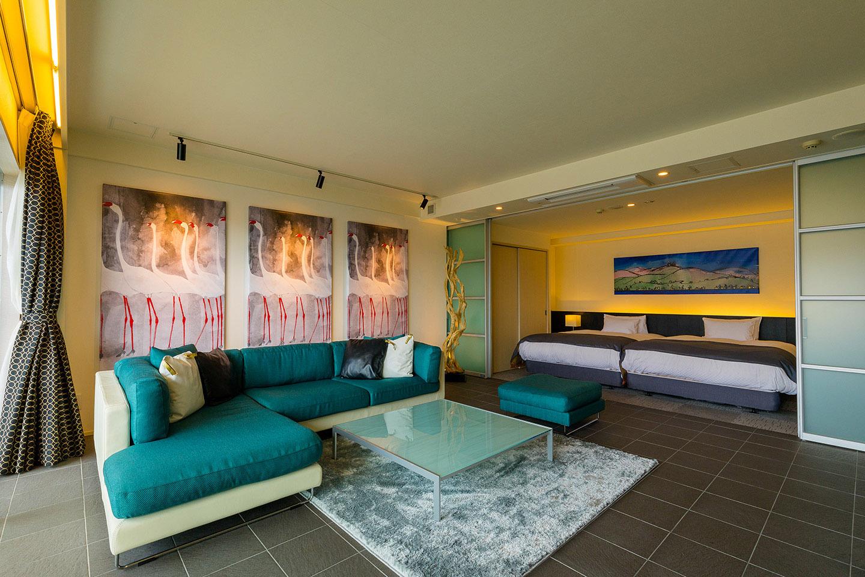 函館在住クリエイターがプロデュースした客室のひとつ