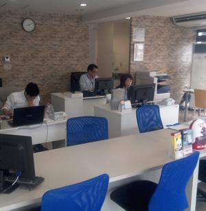 2015年に開設した札幌営業所。不動産売買やリフォームに加え、木造建築の販売もスタートしました。