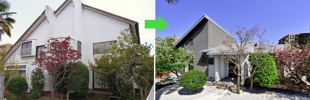 実例3/高齢のお母様との同居を機に、築35年2階建住宅を平屋に減築