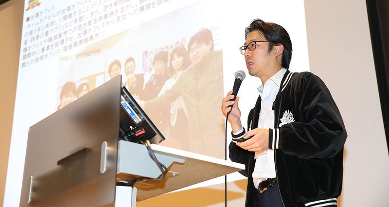 2016年、30以上のイベントに登壇した当社代表  相澤(写真提供/復興庁)