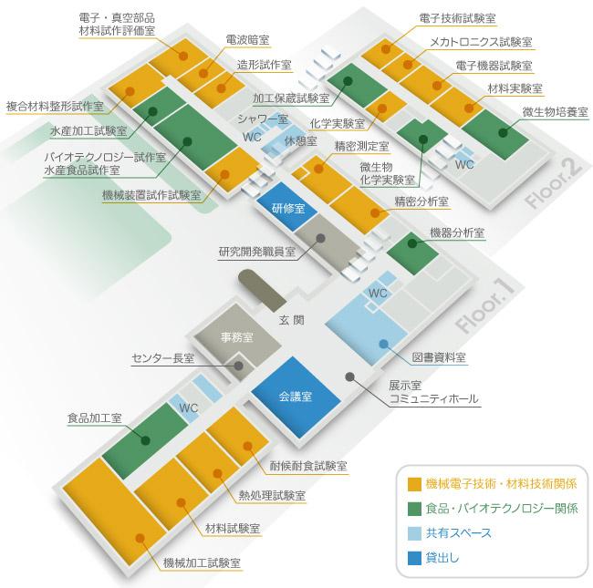 北海道立工業技術センター 案内図